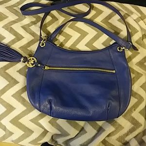 Michael kors leather bag with FRINGE. USED ONCE